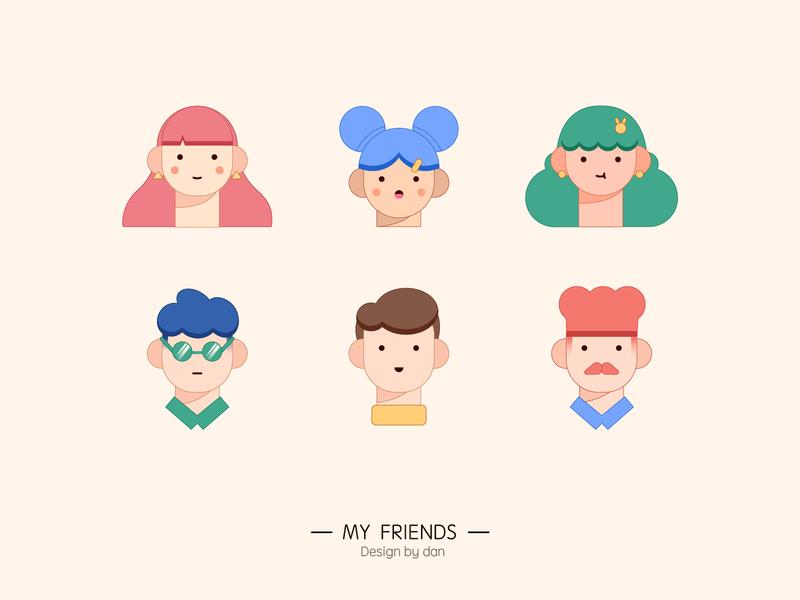 My Friends illustration illustrations