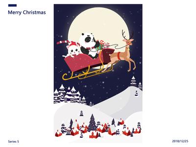 Cat and Panda-Merry Christmas