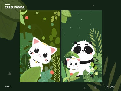 Cat and Panda-Forest