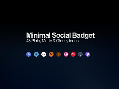 Minimal Social badget Icons icon social ui web