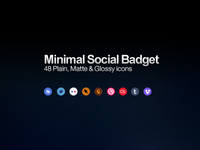 Minimal Social badget Icons