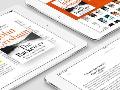 An ipad Reader (WIP) ios ipad reader visual ui