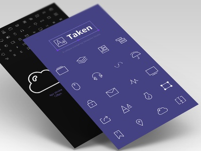 Taken - 50 one-pixel stroke icons visual stroke ui icons