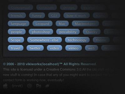 New Theme for Vikiworks.com preview webdesign ui