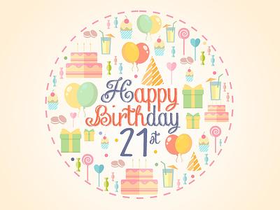 Birthday Card Pastel carddesign design card birthday