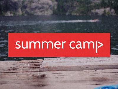 Summer Camp Branding Idea cabin logo branding