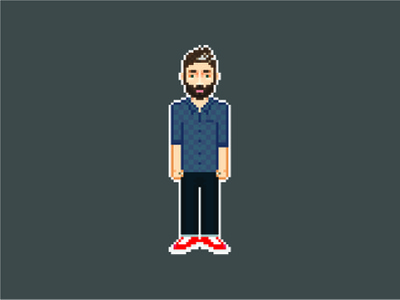 Pixel Portrait 8 bit illustration