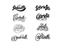 'by Gabriella' logo exploration
