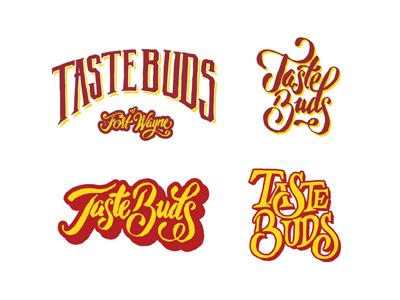 Taste Buds Food Truck Logo food truck typography ink lettering logo