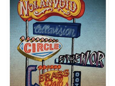 Show Poster vintage lettering sign art ink pen drawing illustration