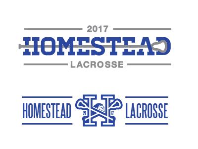 Homestead Lacrosse type lacrosse high school sports logo