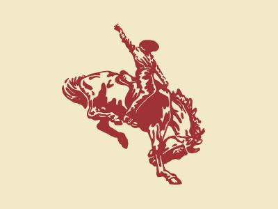 Bucking Bronco mark tack horse logo drawing illustration