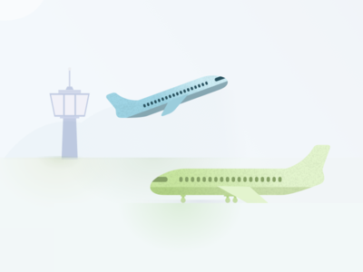 Price change on Kiwi.com modal airport plane airline price travel flights flight illustration