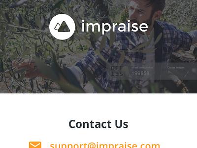 Mobile website / Impraise.com pricing article post video imac customers landing squarespace mobile web