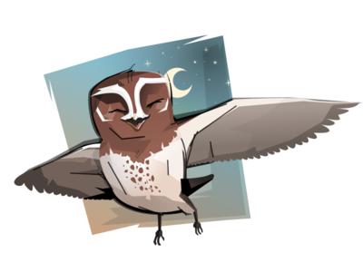 Older illustration for Khan Academy in Czechia kids illustration owl