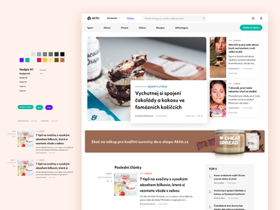 Articles page for Aktin.cz with Figma source ui symbols styleguide open source articles figma web