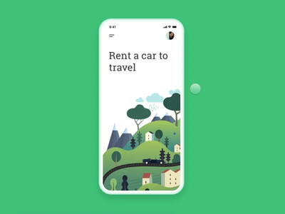 "💫 Animations for ""Rent a Car"" animation after effects illustrations mobile car 60fps framerx interactions animation"