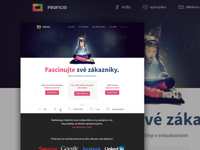 Webdesign for a czech agency