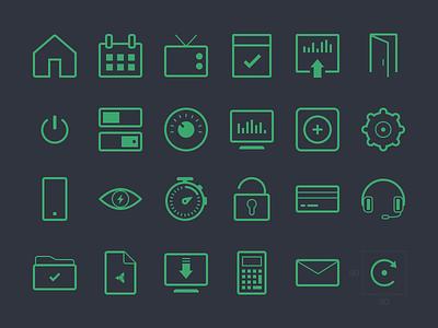 Web Icon Set web icon set flat icons folder settings download icons file chronometer sports flat line