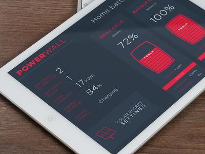 Tesla PowerWall App Concept