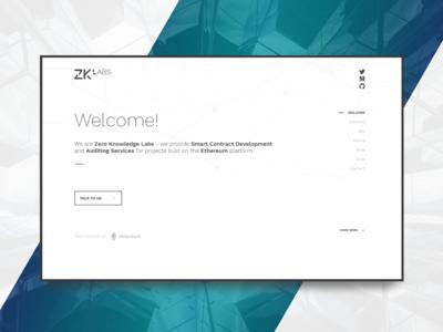ZKLabs Landing page