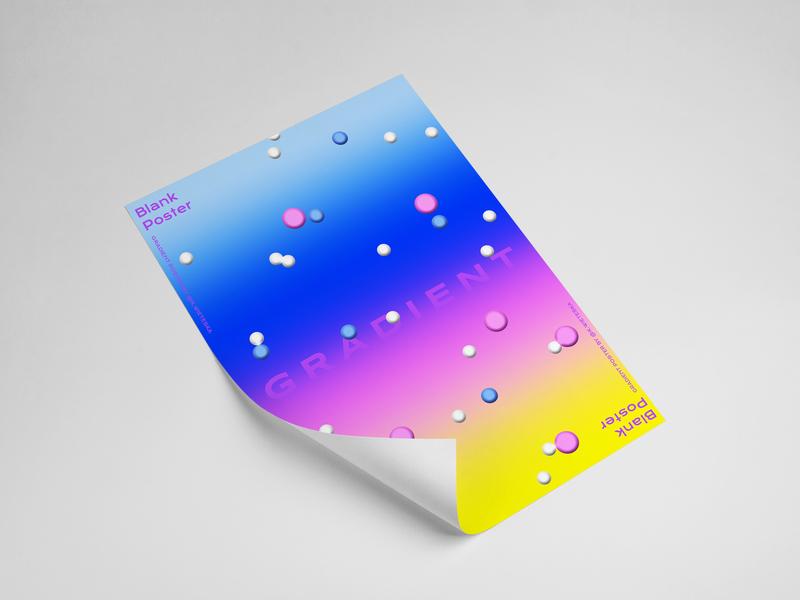 Gradient Poster plakat graphic  design design colors print gradient blank poster poster