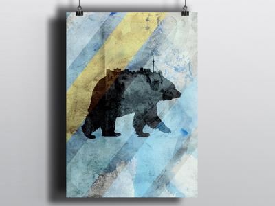 Berlin germany bear city poster berlin illustration poster