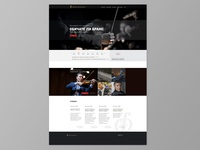 Landing Page for Symphony Website
