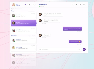 Direct Messaging app - Daily UI 013