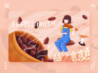 Coffee music illustration