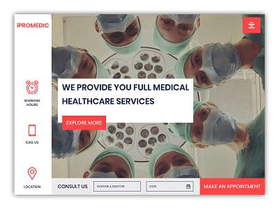 Medical UI medical design medical ui healthcare medical typography ux design banner design webdesigner ui photoshop website webdesignagency uidesign website design