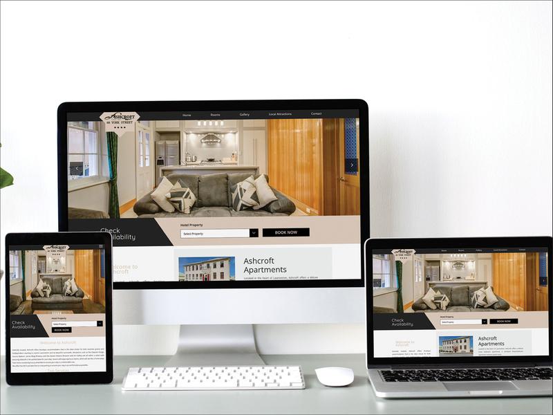 Ashcroft Apartments Webdesign accomodation rooms apartments hotel webdesign hotel ux ui banner design design webdesigner photoshop website webdesignagency uidesign website design