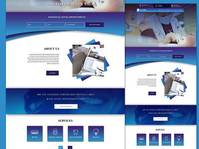 Dental Website dental clinic dentist website dental ui dental branding banner design ui design webdesigner photoshop website webdesignagency uidesign website design