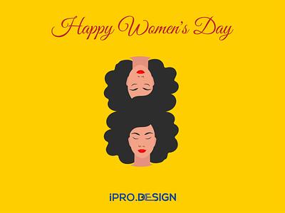 Happy Women's Day ui vector branding banner design logo illustration website design uidesign website design
