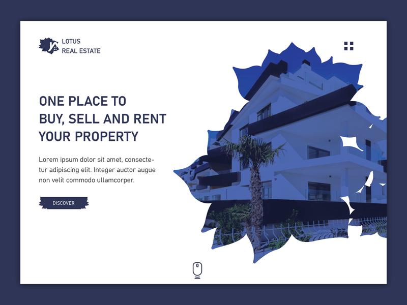 Real Estate UI sell buy lotus property realestate branding logo banner design ui design webdesigner photoshop website webdesignagency uidesign website design