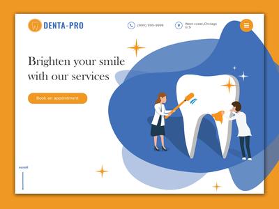 Home Page: Banner Design - Dental website