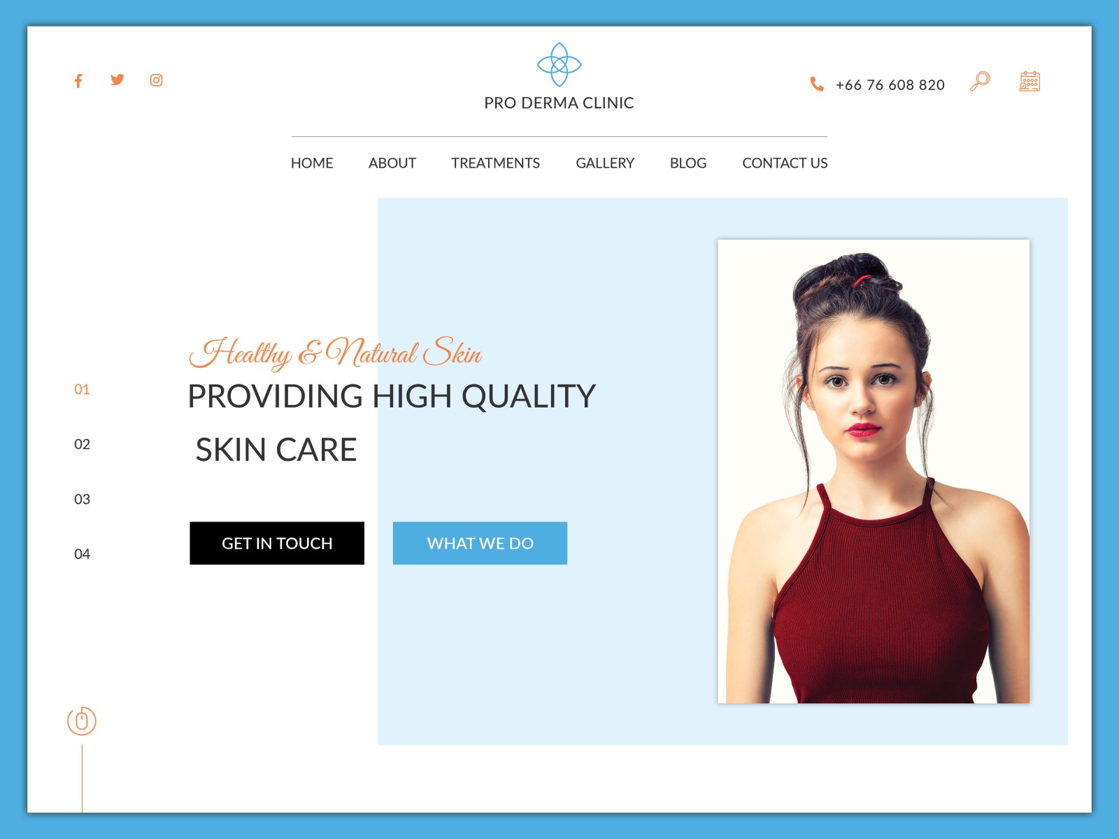 Skincare Clinic Website Banner By Ipro Design On Dribbble
