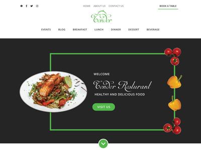 Delicious Restaurant Website Banner 😋🍲🍹