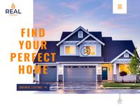 Beautiful Real Estate Website Banner design!