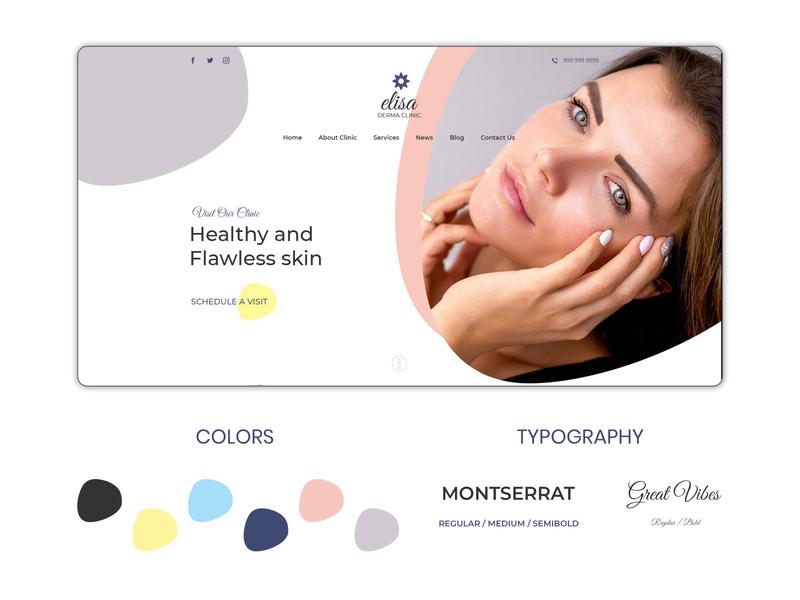 Beautiful Skin clinic website Design
