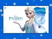 Frozen Movie Banner Design