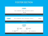 Footer Section - UI Design