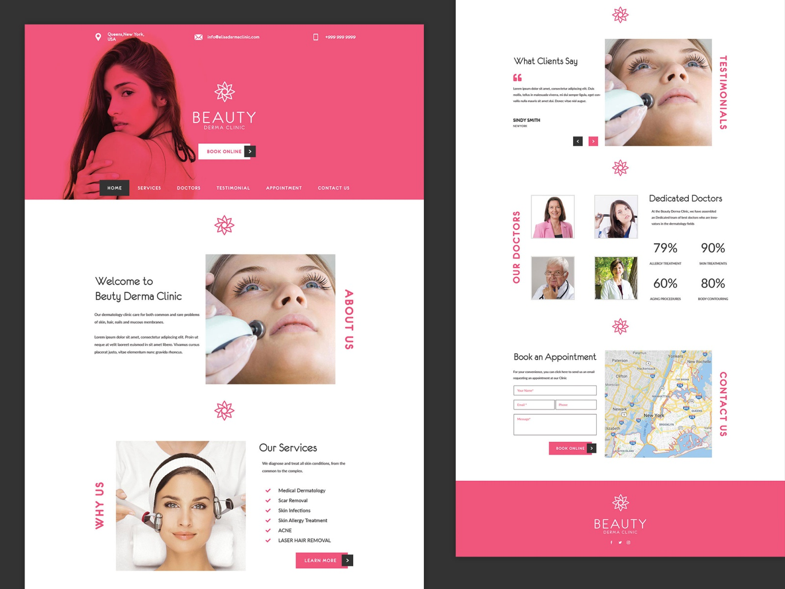 Skin Clinic Website By Ipro Design On Dribbble