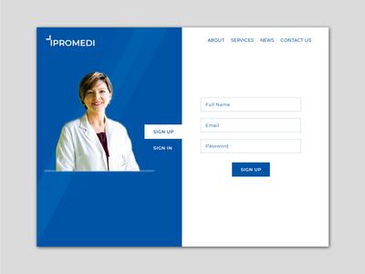 Medical Sign Up Web UI