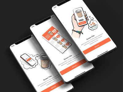 Illustrations for the app. Selling delicious coffee) кофе приложение вектор hand illustration vector app cofe
