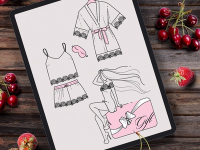 Illustrations for a website that sells underwear and clothing fo иллюстрация вектор девушка art vectorart girl illustration vector