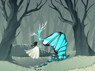 forest fairytale сказка фентези фантастика вектор illustration vector art fantastic fantasy