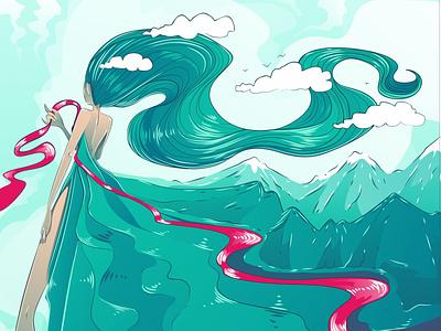 Ветер вектор vectorart illustration vector