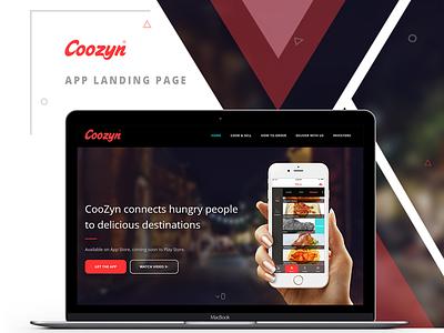 Coozyn App Landing Page ui  ux web design page landing app