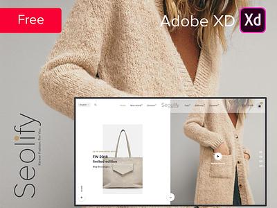 FREE | Seoulify - Fashion store freebie free adobe xd website design website fashion fashion ui ui ux white black women south korea